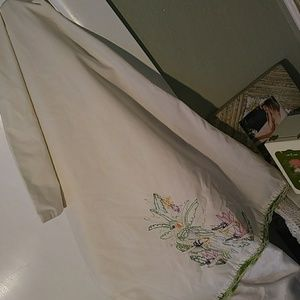 unknown Bedding - Vintage Embroidery Parrot Pillowcase